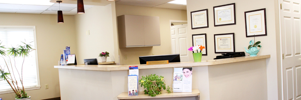 Dr. Keith Gilbert's Reception Area