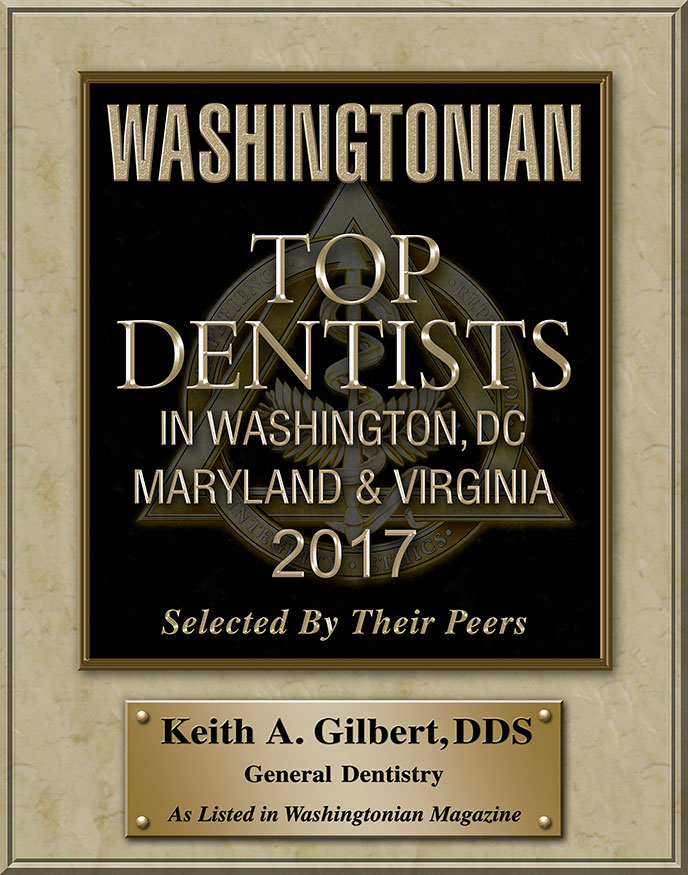 Keith A. Gilbert Listed in Washingtonian Magzine